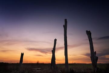 Sunset rural landscape Penrith NSW Australia