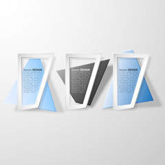 Infographic banners set, origami styled vector