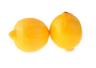 lemon fruit sour isolated on white background