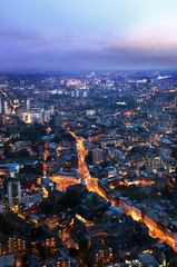 night London, view from shard, UK