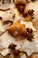 Gingerbread stars. Christmas cookies