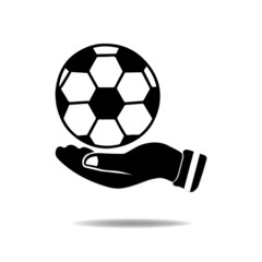 Hand with Soccer ball