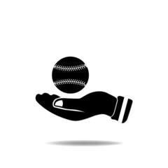 Hand with Baseball