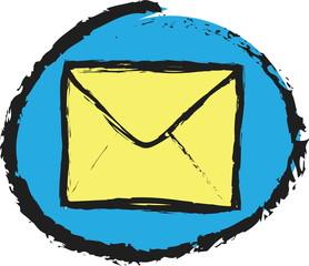 doodle envelope icon