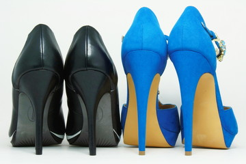 Two pairs of high heels.