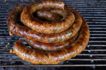 grill smoked sausage, food of northern thailand