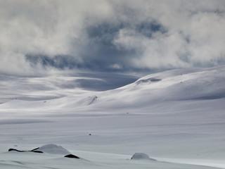 Winterlandschaft Hardangervidda Norwegen