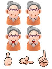 Business people elderly female illustration