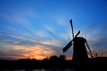 The World Heritage Kinderdijk Windmill in the Netherlands