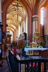 Church interior in Frombork, Poland.