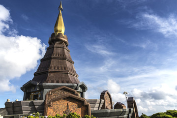 Temple in the Doi Inthanon National Park, Chiang Mai Thailand
