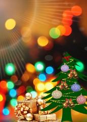 Christmas background ,colorful bokeh,garland Christmas lights