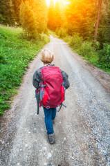 Hiking children