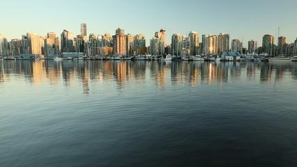 Downtown Vancouver Dusk Coal Harbor