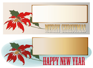Vector background for Christmas and New year