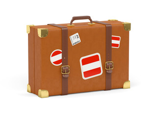 Suitcase with flag of austria