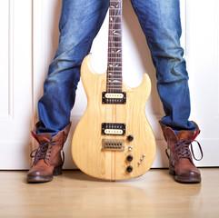 Musiker mit Instrument