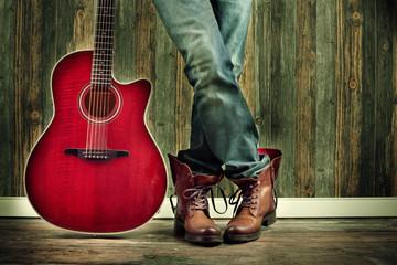 Detailaufnahme Musiker mit Gitarre