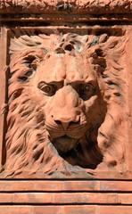 Lion on historic building