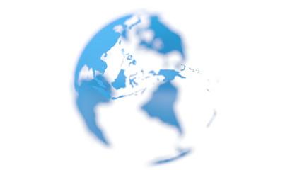 Blue world globe. seamless loop