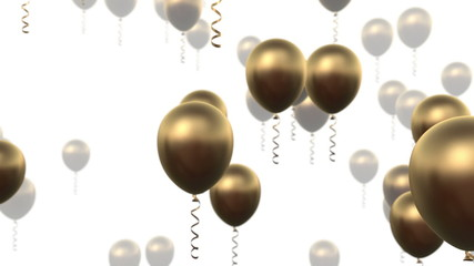 Golden balloons animation
