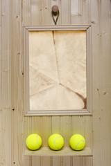 Club ad for tennis