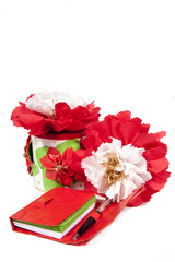 decorations and gifts made from recycled material
