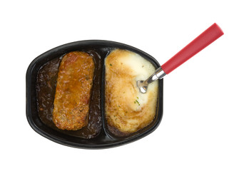 Meat Loaf Mashed Potatoes Fork Top View