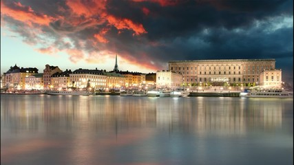 Stockholm Old Town, Sweiden - Time lapse