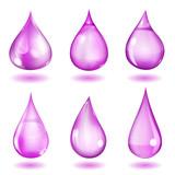 Opaque violet drops poster