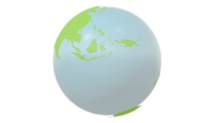 Green earth spinning. Seamless loop
