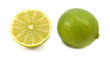Whole fresh lime and cut half fruit
