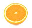 Cross section of a juicy fresh orange