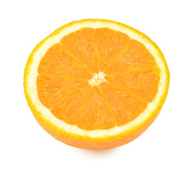Cross section of a juicy fresh orange