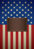 American insignia for book cover or background design template poster