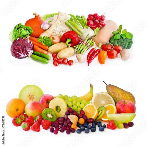 canvas print picture Obst und Gemüse