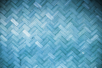 Blue Bamboo rattan texture  and background