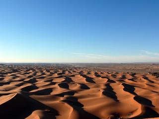 View over Sahara Sand Dunes