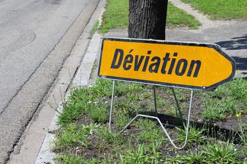 panneau de déviation