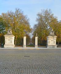 Parc de Bruxelles et Place des Palais