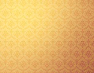 floral pattern gold wallpaper