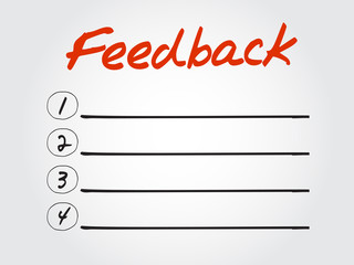 Hand drawn blank Feedback list for diagram, chart shapes vector