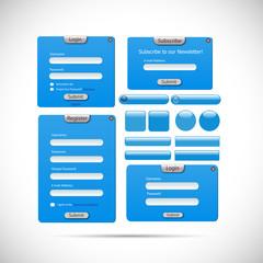 Web Form Template Illustration