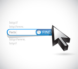 search bar facts illustration design