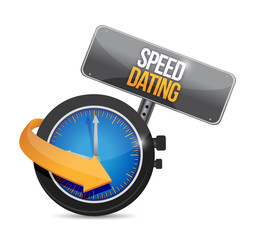 speed dating watch illustration design