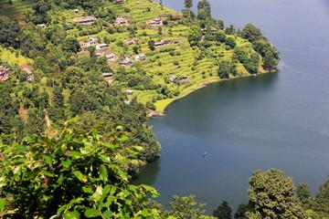 Lake Phewa from the way down Ananda Hill. Pokhara-Nepal. 0696