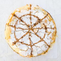 Fresh baked Moroccan Pastilla or pastela