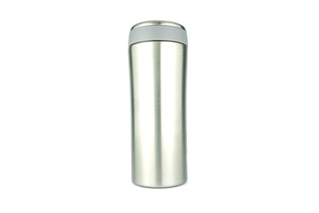 water flask on white background