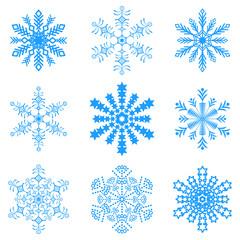 Snowflakes icon collection .