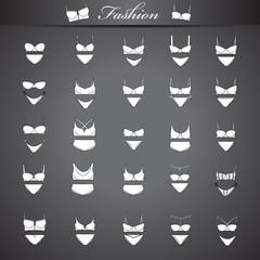 Underwear Set - Isolated On Black Background